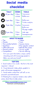 Social media checklist - Kenmark Comms